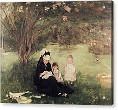 Beneath The Lilac At Maurecourt Acrylic Print by Berthe Morisot