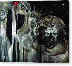 Beneath The Mask Acrylic Print