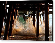 Beneath The Pier Acrylic Print