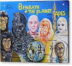 Beneath The Planet Of The Apes - 1970 Lobby Card That Never Was Acrylic Print