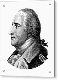 Benedict Arnold - Black And White Acrylic Print by War Is Hell Store