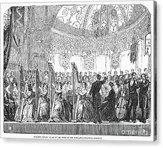 Benefit Concert, 1853 Acrylic Print by Granger