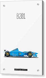 Benetton Renault B201 F1 Poster Acrylic Print by Beautify My Walls