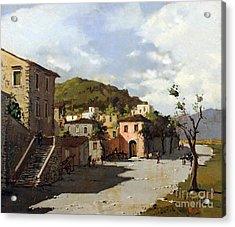 Provincia Di Benevento-italy Small Town The Road Home Acrylic Print