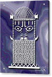 Benin Warrior King Acrylic Print by Walter Oliver Neal