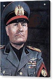 Benito Mussolini Color Portrait Circa 1935 Acrylic Print