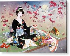 Benizakura Acrylic Print by Haruyo Morita