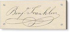 Benjamin Franklin, 1706-1790 Acrylic Print