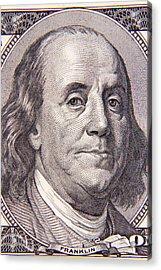 Benjamin Franklin Acrylic Print by Les Cunliffe