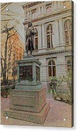 Benjamin Franklin Sketch Acrylic Print