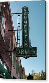 Bennett's Drugs Acrylic Print