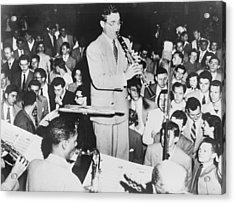 Benny Goodman 1909-86, Playing Acrylic Print by Everett