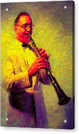 Benny Goodman Acrylic Print by Caito Junqueira