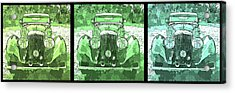 Bentley Green Pop Art Triple Acrylic Print