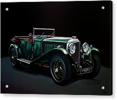 Bentley Open Tourer 1929 Painting Acrylic Print by Paul Meijering