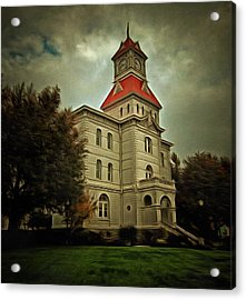 Benton County Courthouse Acrylic Print by Thom Zehrfeld