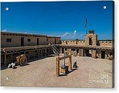 Bent's Fort Courtyard Acrylic Print