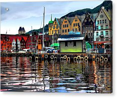 Bergen Colors Acrylic Print by Jim Hill