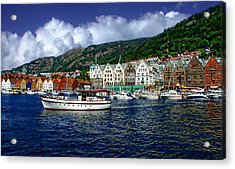 Bergen - Norway Acrylic Print by Anthony Dezenzio