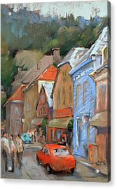 Bergen Sentrum Acrylic Print by Joan  Jones