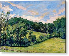 Berkshires Hillside Acrylic Print by Thor Wickstrom