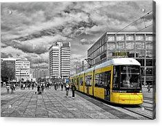 Berlin Alexanderplatz Edition Acrylic Print by Joachim G Pinkawa