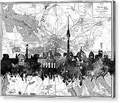 Berlin City Skyline Vintage 2 Acrylic Print