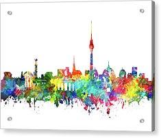Berlin City Skyline Watercolor Acrylic Print
