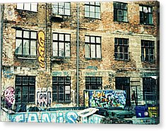 Berlin House Wall With Graffiti  Acrylic Print