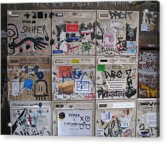 Acrylic Print featuring the photograph Berlin  Mailboxes by Erik Falkensteen