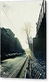 Berlin Street With Sun Acrylic Print