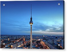 Berlin Television Tower Acrylic Print by Marc Huebner