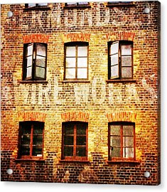 Acrylic Print featuring the photograph Bermondsey Mesh And Wire Works by Anne Kotan
