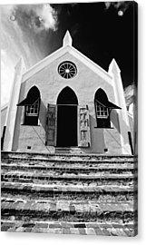 Bermuda Church Acrylic Print by George Oze