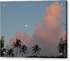 Bermuda Morning Moon Acrylic Print