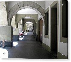 Bern Corridor Iv Acrylic Print by David Ritsema