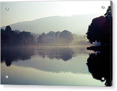 Bernharts Dam Fog 020 Acrylic Print by Scott McAllister
