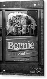 Bernie Sanders Claremont New Hampshire Headquarters Acrylic Print by Edward Fielding