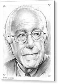 Bernie Sanders Acrylic Print by Greg Joens