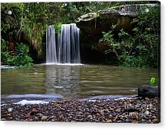 Acrylic Print featuring the photograph Berowra Waterfall by Werner Padarin