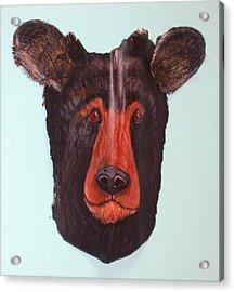 Berry Black Bear Acrylic Print by Ellen Burns