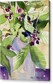 Acrylic Print featuring the painting Berry Bouquet by Kris Parins