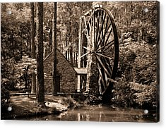 Berry's Old Mill In Sepia Acrylic Print by Johann Todesengel