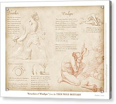 Berserkers And Wendigos Acrylic Print