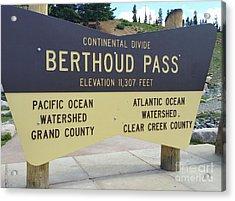 Berthoud Pass Acrylic Print