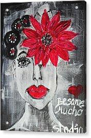 Besame Mucho Acrylic Print by Sladjana Lazarevic