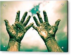 Beseeching Hands Acrylic Print