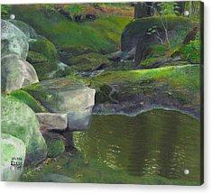 Beside Cool Waters Acrylic Print by Laurel Ellis