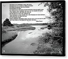 Beside Still Waters Acrylic Print by Methune Hively
