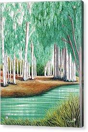 Beside Still Waters - Prints Of My Original Oil Paintings  Acrylic Print
